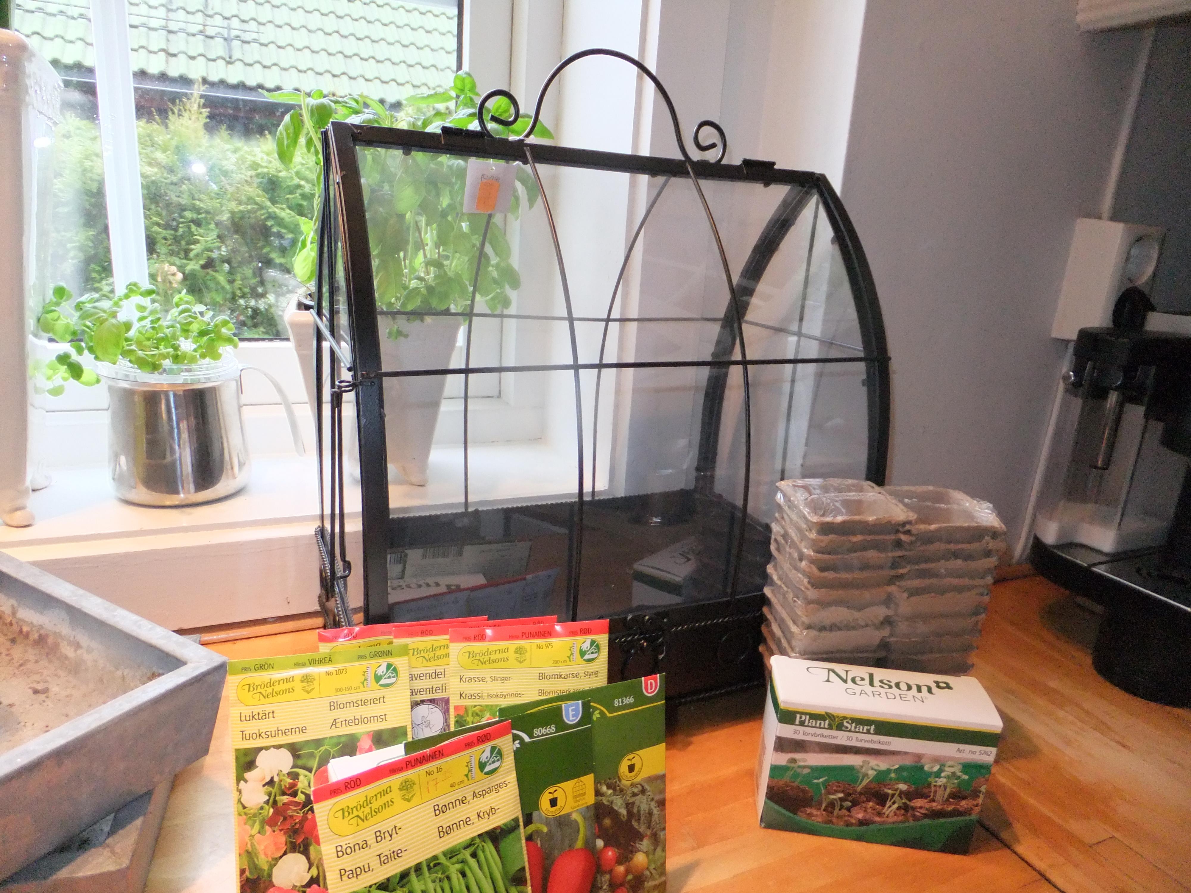 I år skal jeg prøve å dyrke et par sorter grønnsaker i tillegg til urter som basilikum, gressløk, sitronmelisse og salvie. Jeg har sådd frø inne, så nå spirer det […]